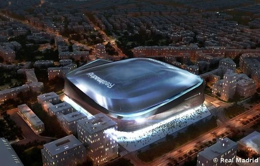 Winning proposal for the Bernabéu Stadium. Image