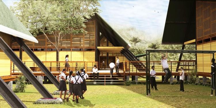"""Jean Pierre Crousse e Sandra Barclay serão os curadores do Pavilhão do Peru na Bienal de Veneza, Programa """"Plan Selva"""" do MINEDU. Imagem via Agencia Andina"""