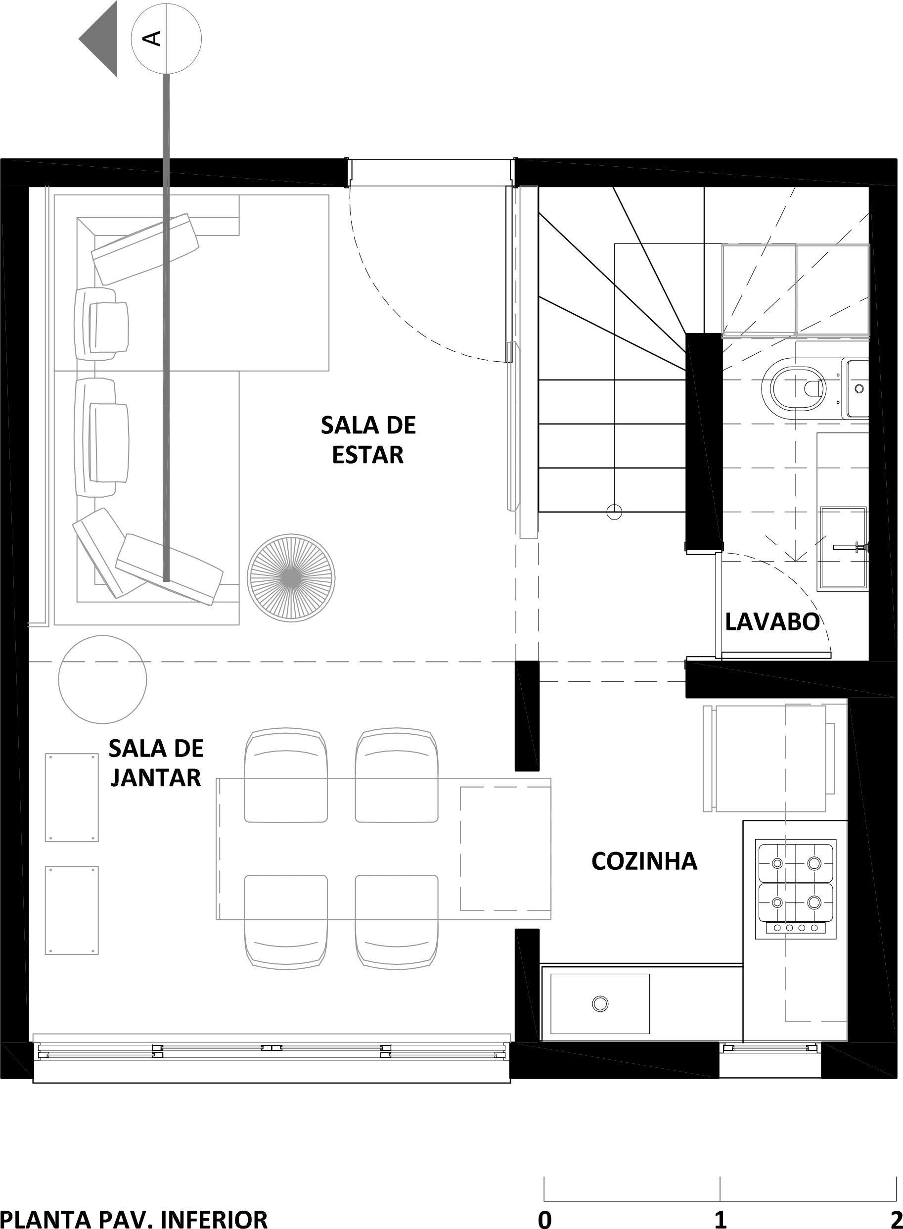Planta Baixa Cozinha Cheap Planta Baixa U Novo Layout Corte Aa With
