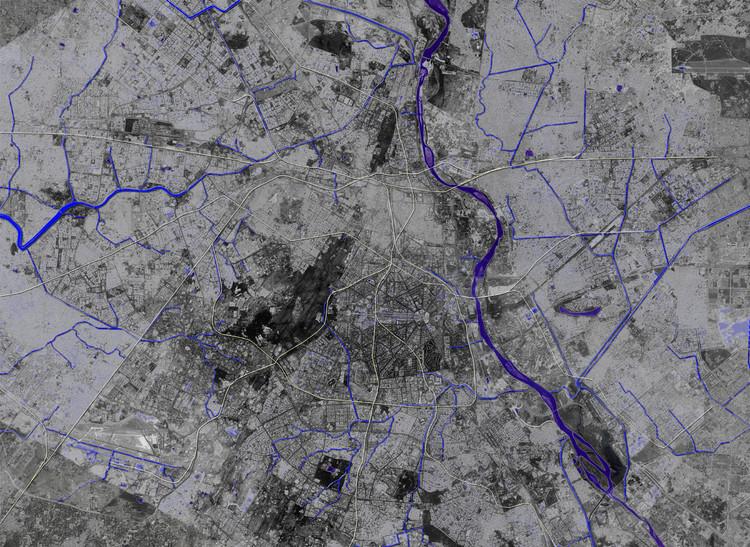 Como o escritório Morphogenesis planeja recuperar as águas poluídas de Deli, Mapa de nullahs em Deli. Cortesia de Morphogenesis