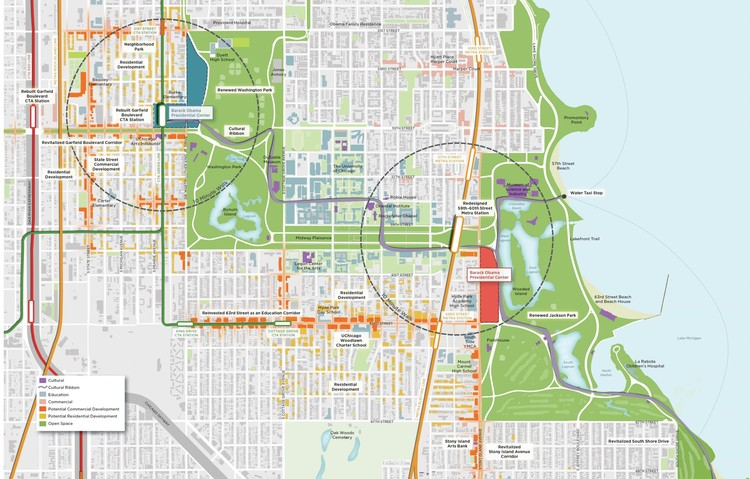 Adjaye Among 7 Asked to Submit Proposals for Barack Obama Presidential Center, © OPLSouthSide.org