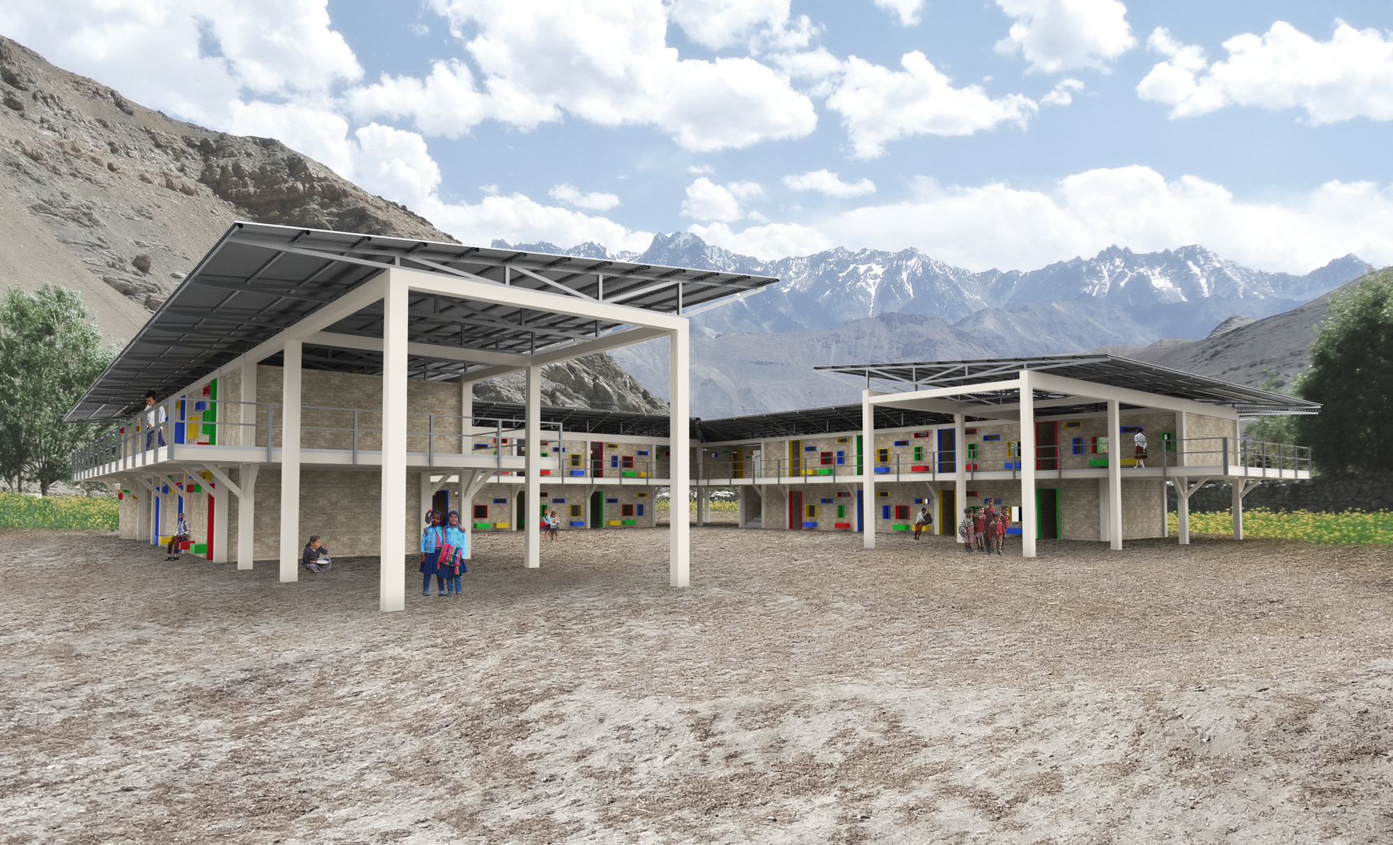 Shop reveals plans to build 50 new schools in nepal for Modern house design in nepal