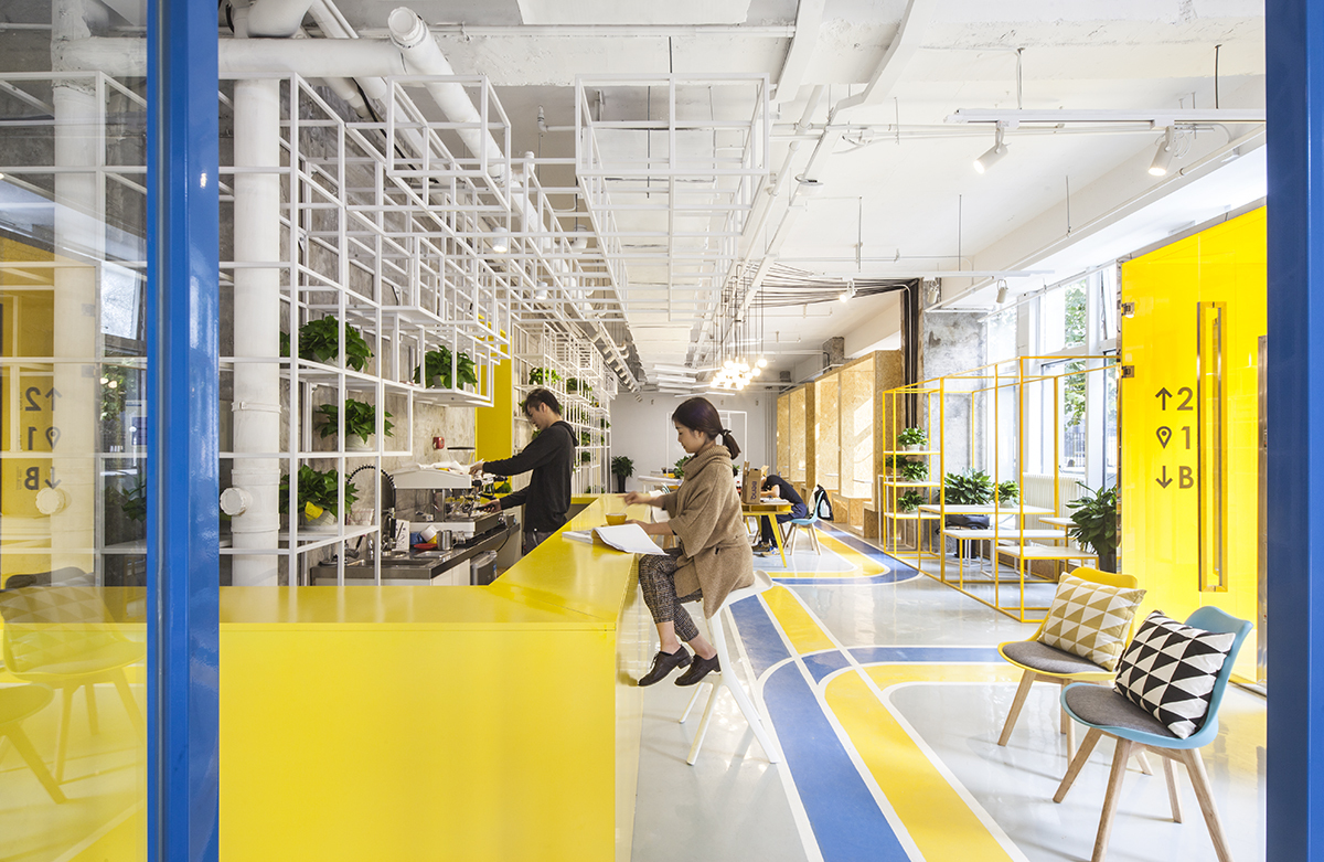 Yuanyang Express We Co Working Space Mat Office Archdaily
