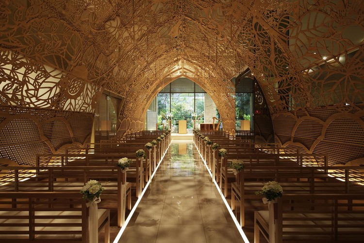 Hiroshima Chapel / Nikken Space Design, © Nacasa & Partners