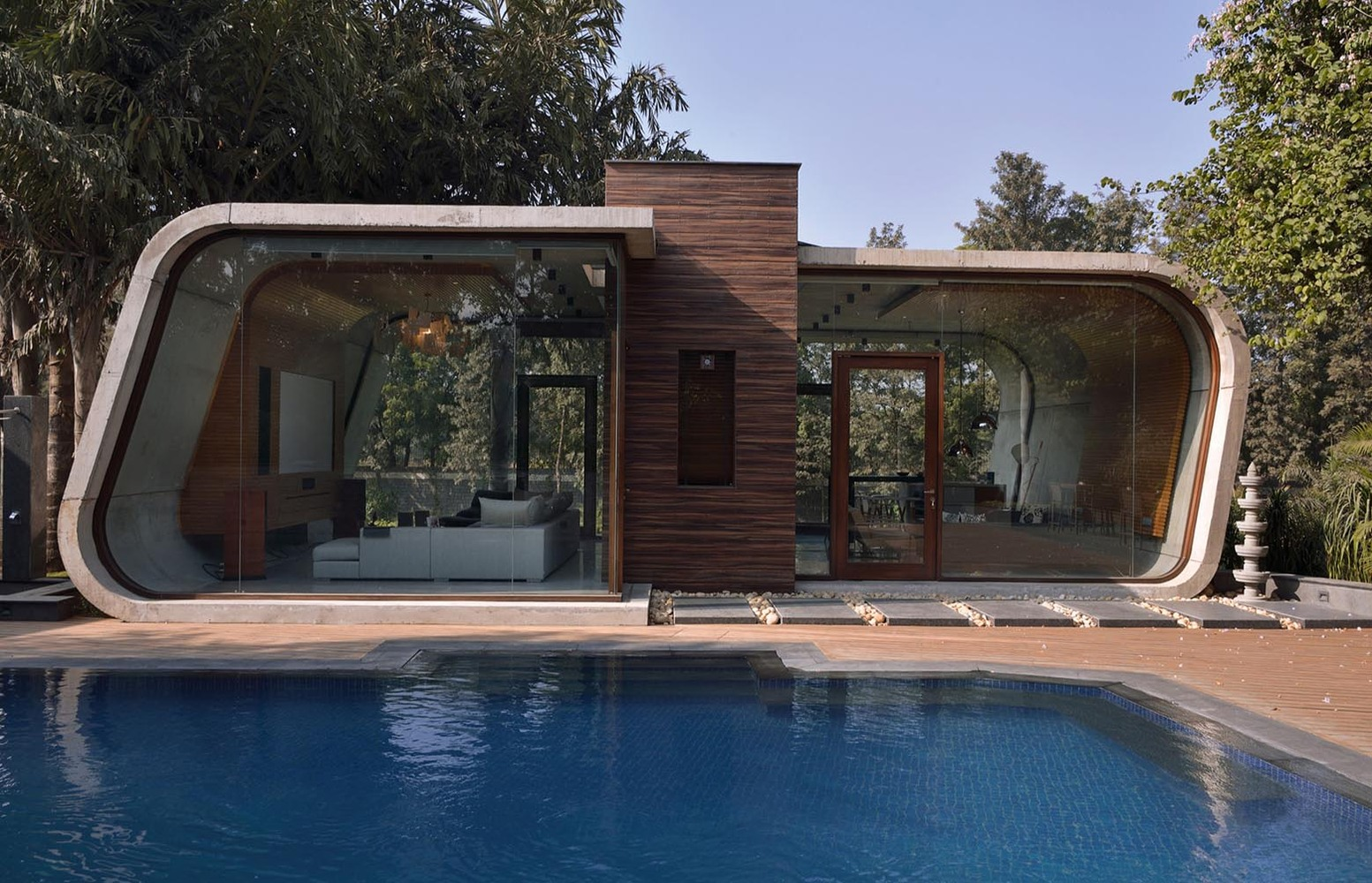 gallery of pool house 42mm architecture 5