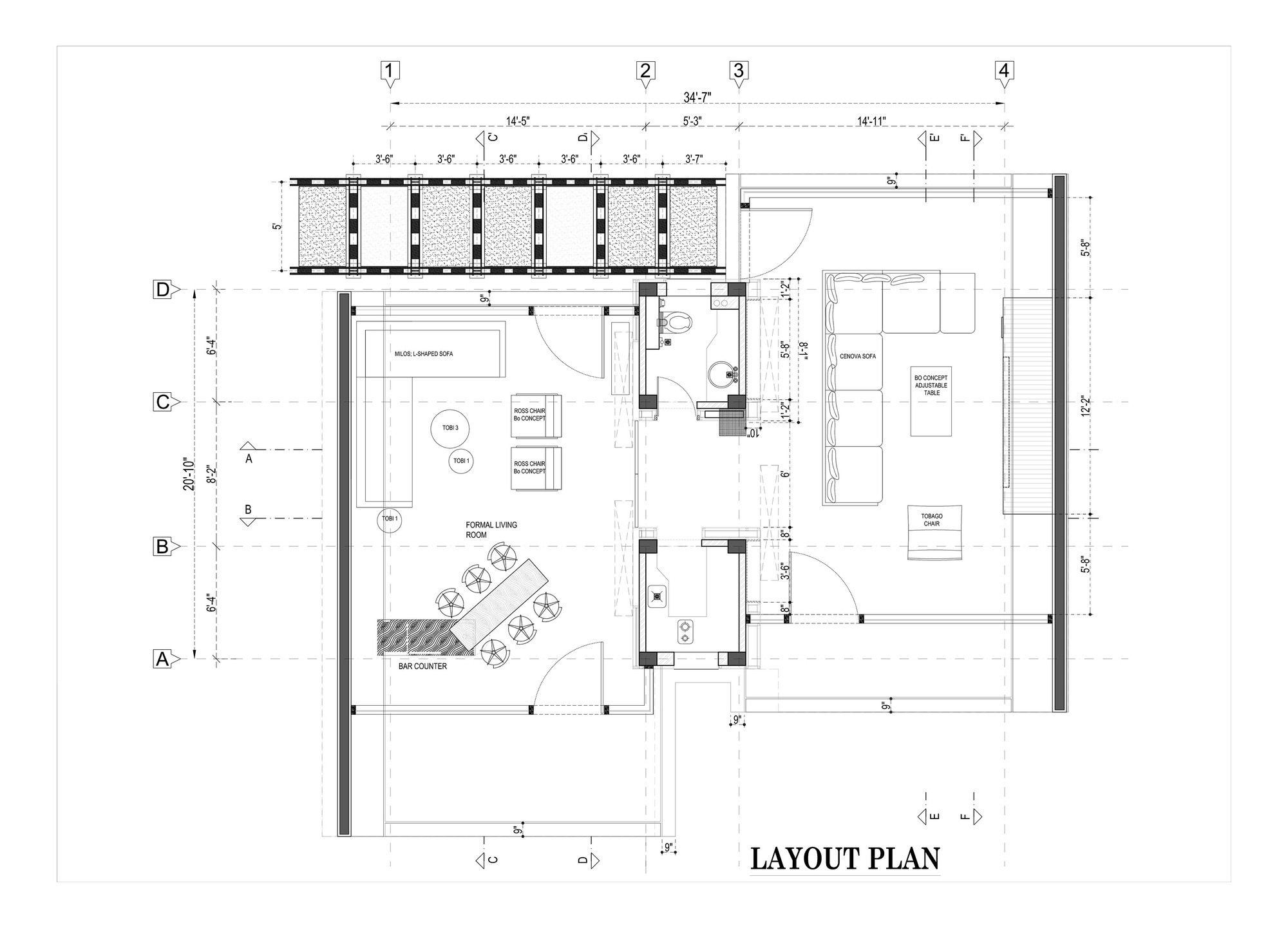 Pool house 42mm architecture floor plan