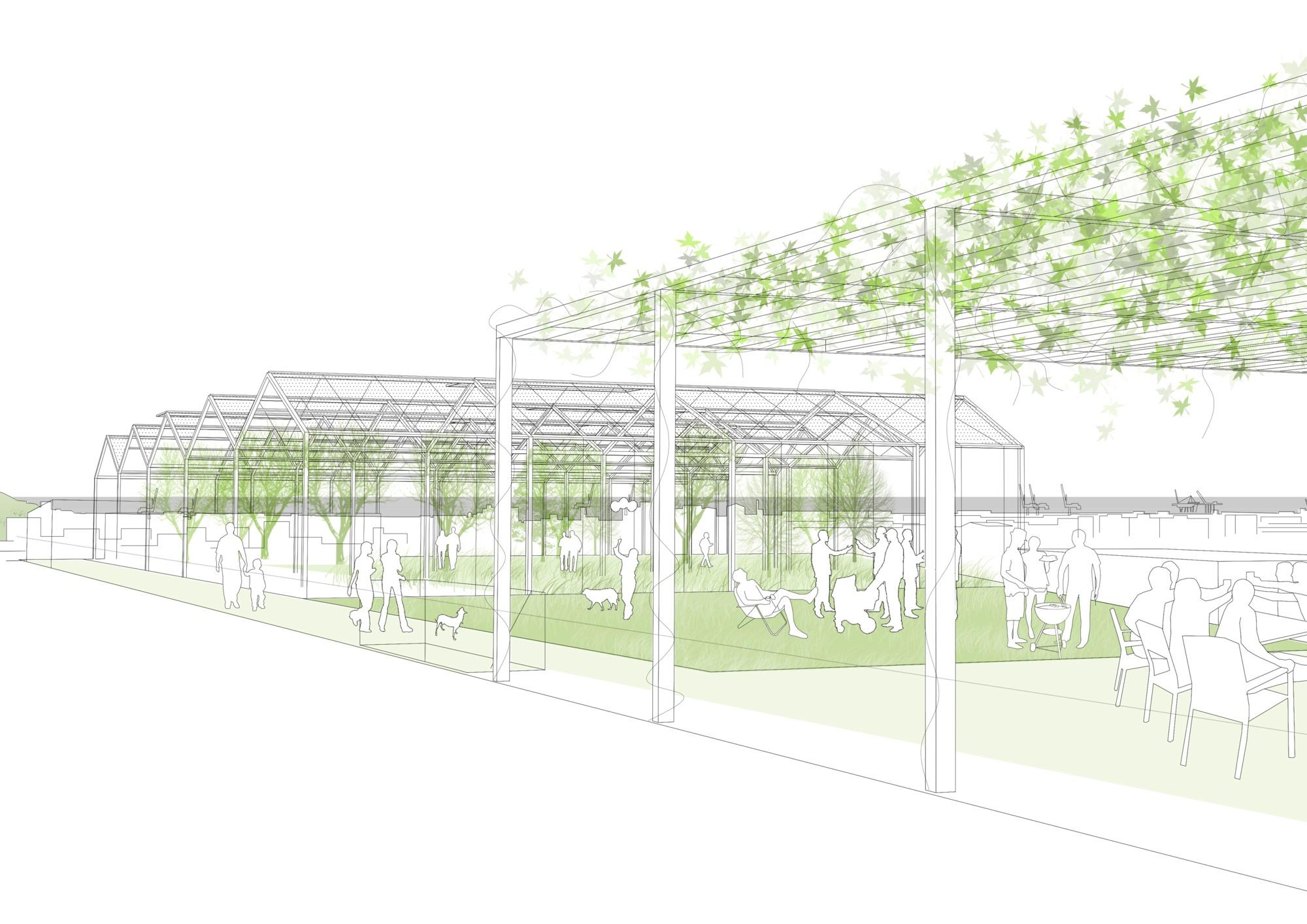 Finalista EUROPAN 13: Sustainable Interface / Barcelona