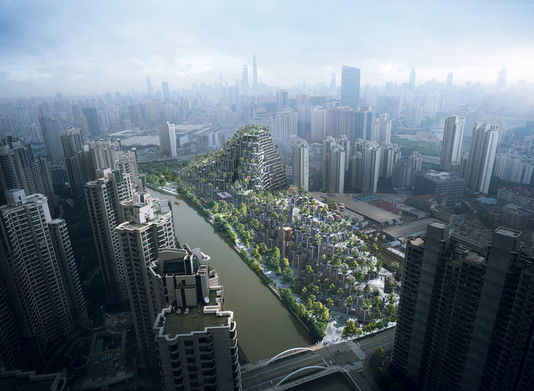 "Heatherwick-Designed Shanghai Development Conceived as Two ""Tree-Covered Mountains"", © Heatherwick Studio"
