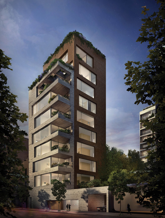 Isay Weinfeld Unveils the Design for His First Project in New York City, Exterior Rendered View. Image Courtesy of VUW Studio