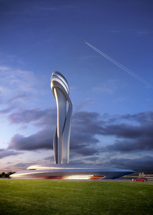 AECOM and Pininfarina Selected to Design Istanbul New Airport's Traffic Control Tower, © AECOM and Pininfarina; Courtesy of iGA