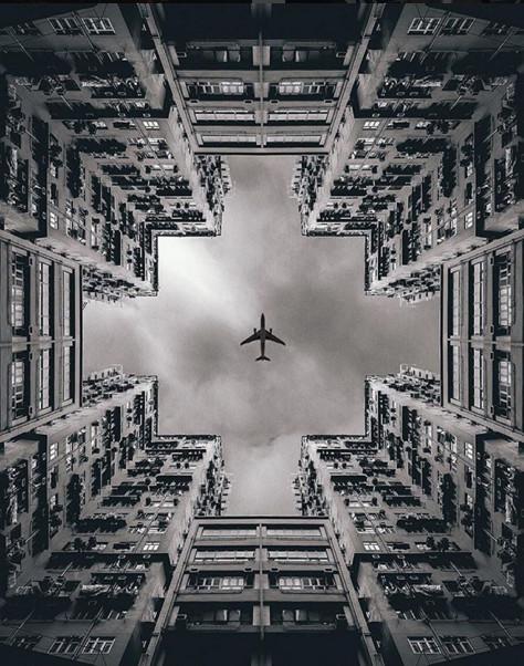 La belleza de la simetría en 12 fotografías, Hong Kong. Image © @andreknot [IG]