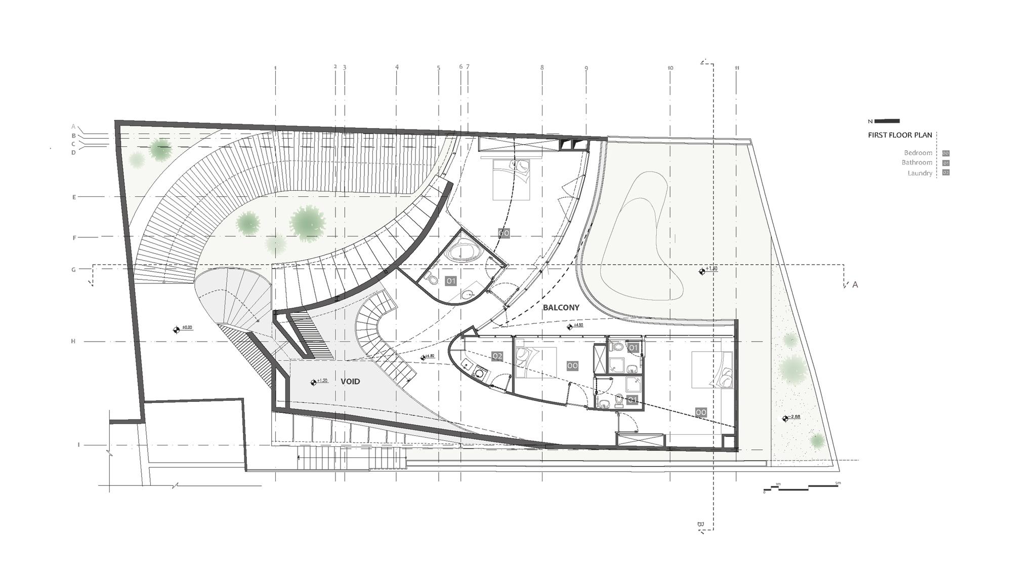 Organic Architecture Floor Plans Gallery Of Villa For Younger Brother Nextoffice