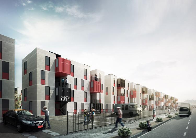 Mención Honrosa profesional en nuevo plan maestro urbano habitacional en Alto Hospicio, Cortesía de Urbana E&D / B+V Arquitectos