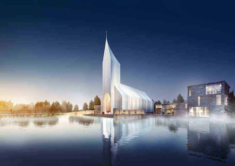 Büro Ziyu Zhuang and RSAA Reimagine the Basilica With Modernized Church in China, Courtesy of RSAA