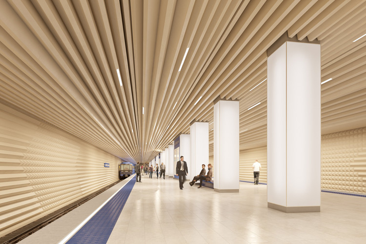 """Michael Kimmelman and The NYT Release Multimedia Presentation on Why """"Sound Matters"""", With their Moscow Metro proposal, Variant Studio attempted to design """"the world's quietest metro platform"""". Image Courtesy of Variant Studio"""