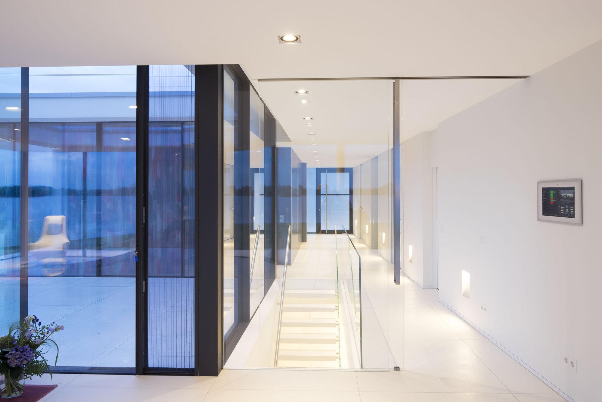 Minimalist villa project by lab architecten