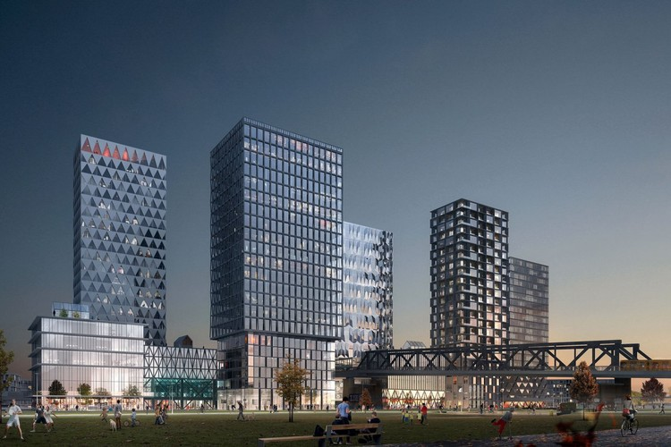 COBE Designs Masterplan for New Urban Center in Berlin, © Luxigon