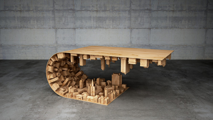This Inception-Inspired Coffee Table is an Architect's Dream (Literally), © Moussaris