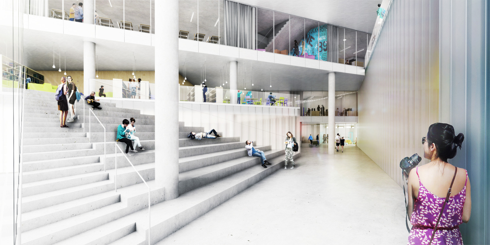 BIG Reveals Design For Cascading Secondary School In VirginiaC
