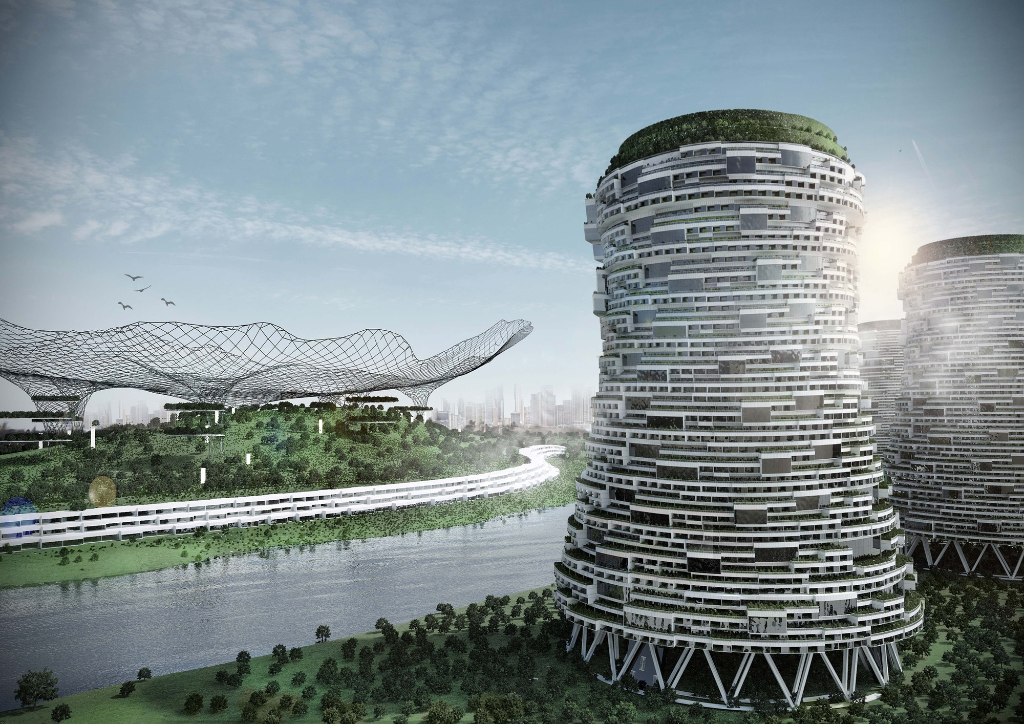 This Conceptual Design Reinvents Power Plants as Mixed Use