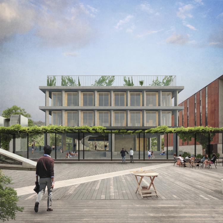 Amunátegui Valdés Arquitectos + Plan Común, mención honrosa en concurso del futuro edificio FADEU-CMPC, Cortesía de Amunátegui Valdés Arquitectos + Plan Común