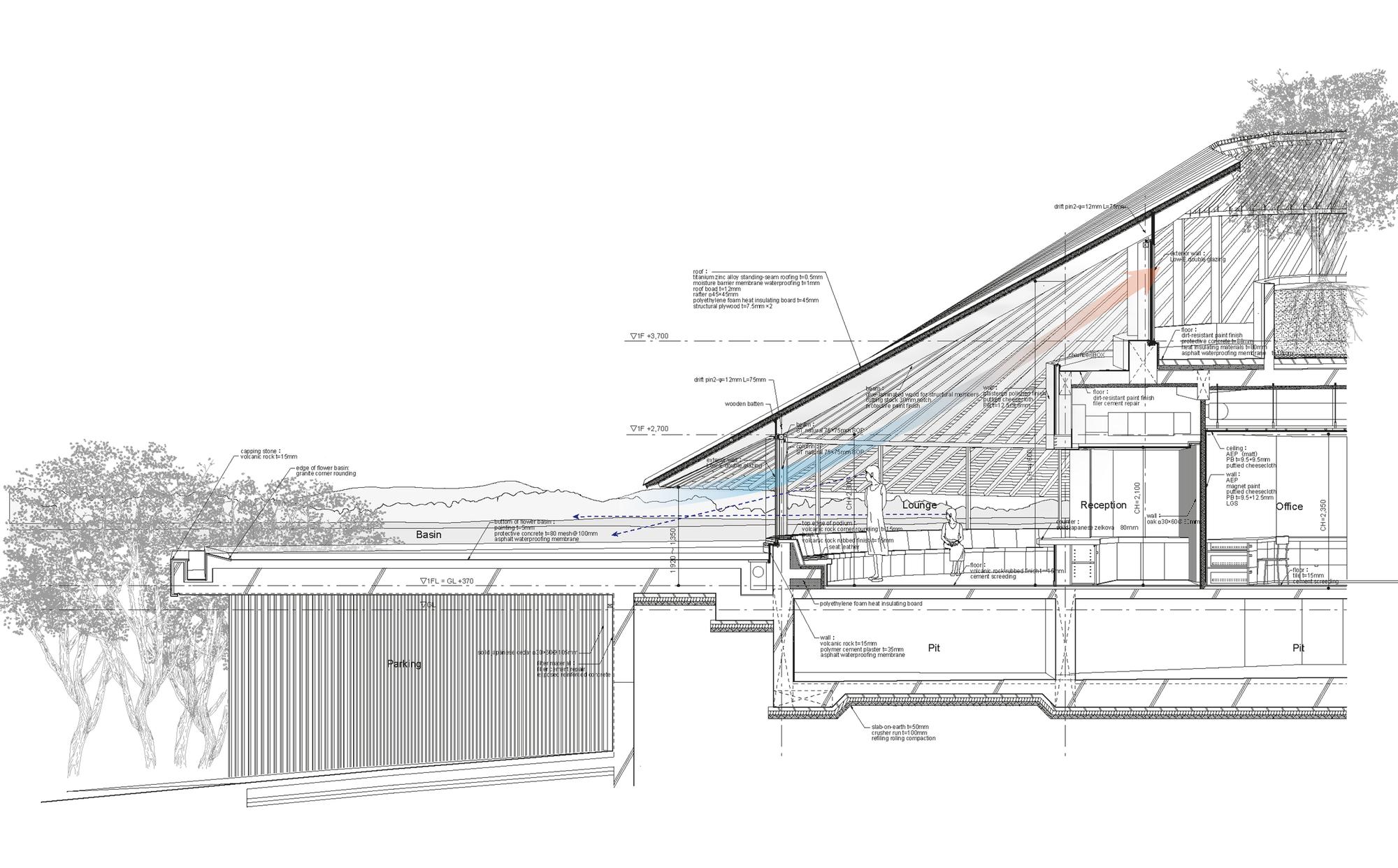 Tree House Floor Plan Gallery Of Sayama Lakeside Cemetery Community Hall
