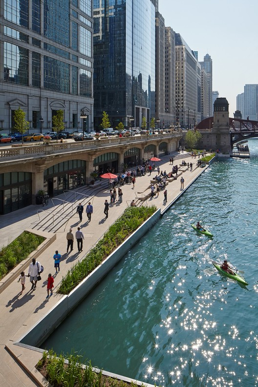 Riverwalk Chicago Map.Chicago Riverwalk Chicago Department Of Transportation Archdaily
