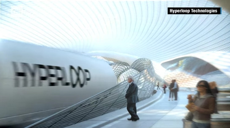Elon Musk's Ultra-Fast Hyperloop Begins to Take Shape, © CNN Money