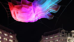 Janet Echelman Suspends Net Sculpture Over London's Oxford Circus