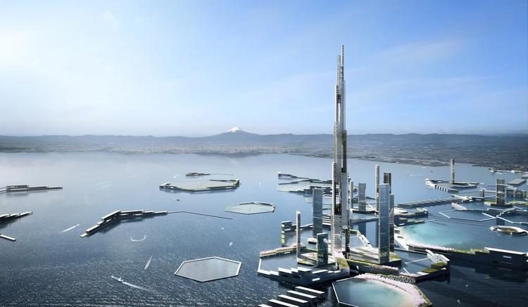 Kohn Pedersen Fox + Leslie E. Robertson's Next Tokyo 2045 Masterplan Features a Mile-High Skyscraper , Courtesy of Kohn Pederson Fox Associates