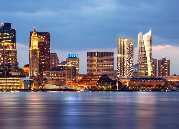 Towers by CBT Architects and Pelli Clarke Pelli to Rise in Boston, Skyline. Image Courtesy of Pelli Clarke Pelli/CBT Architects