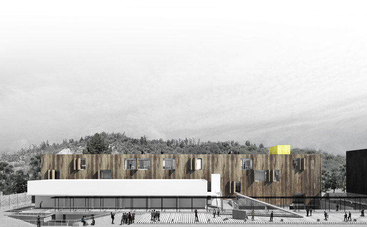 Romero Silva Arquitectos + Anagramma Arquitectos, mención honrosa en concurso del futuro edificio FADEU-CMPC, Cortesía de FADEU