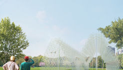 Pavilion Made Out of Recycled Coat Hangers to Be Constructed on Governors Island