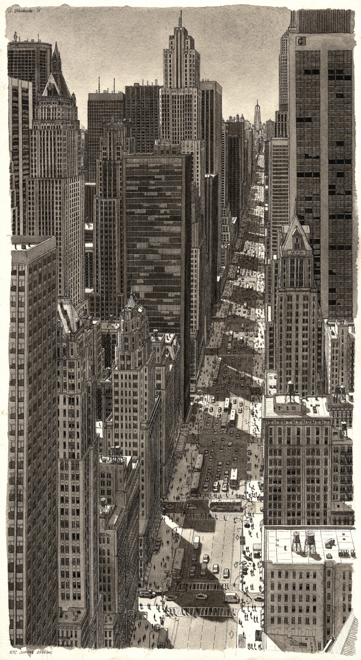 Stefan Bleekrodes Drawings Recreate Cityscapes from Memory