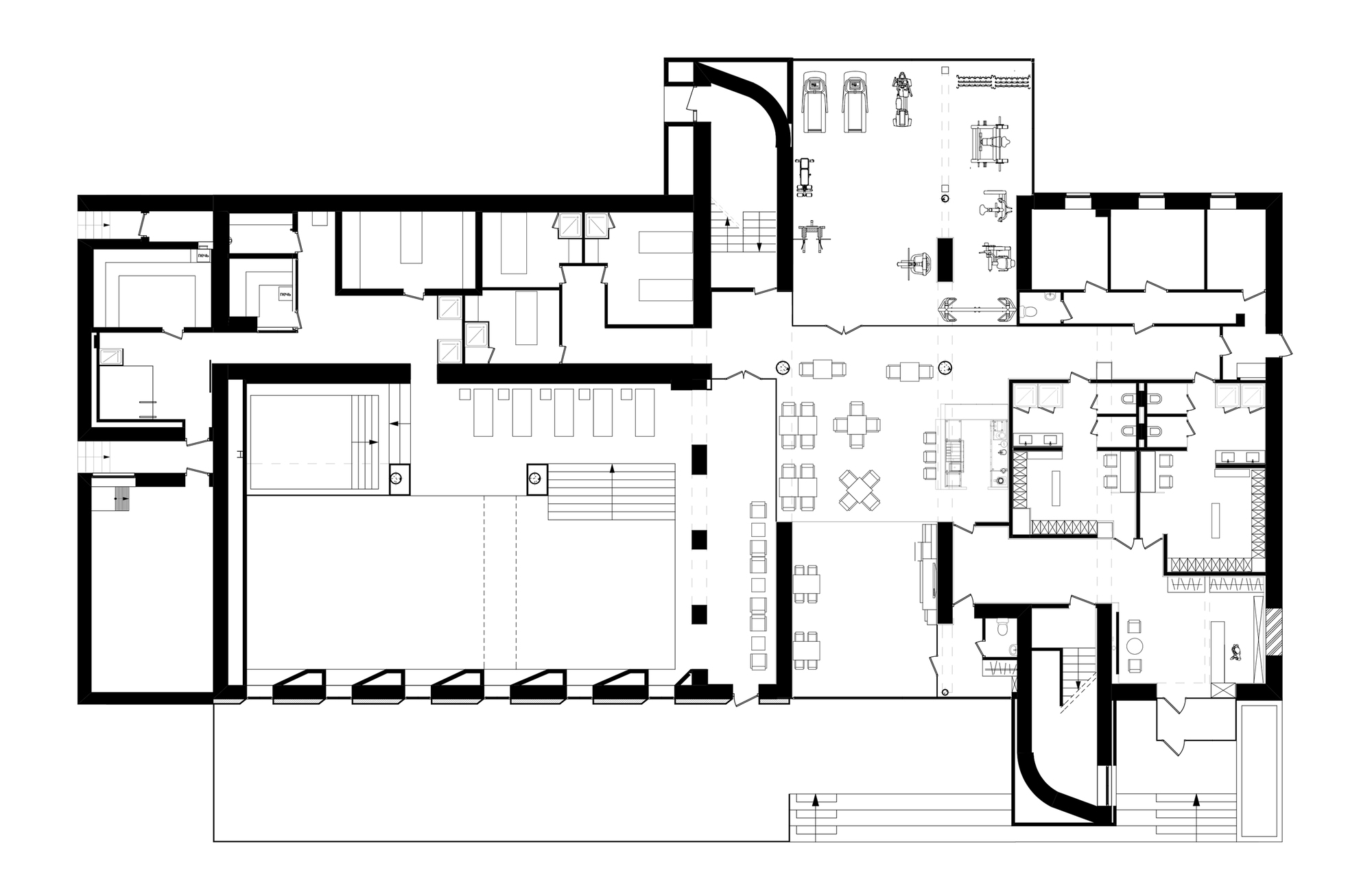 Gallery of spa in relax park verholy yod studio 14 for Salon layout plans