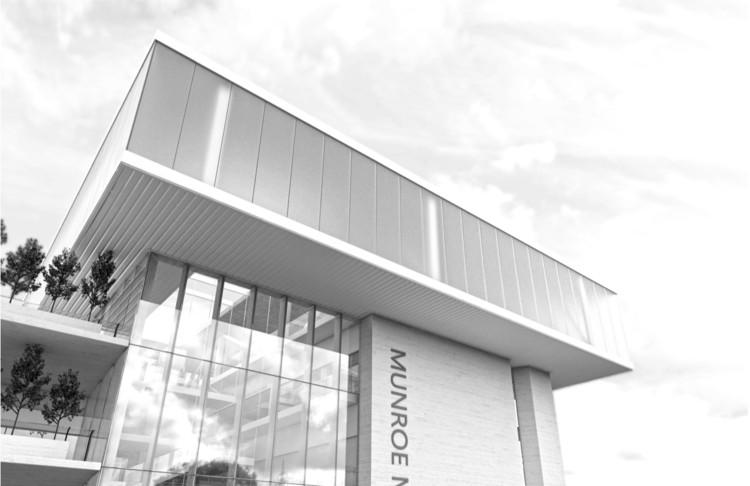 Munroe Meyer Institute, Exterior Rendering, Design: Brett Virgl, Ruth  Barankevich. Image