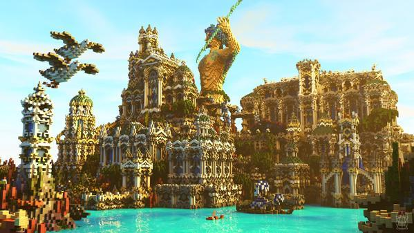 gallery of 15 incredible architectural feats made in minecraft 60