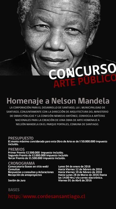 Concurso de Arte Público 'Homenaje a Nelson Mandela'