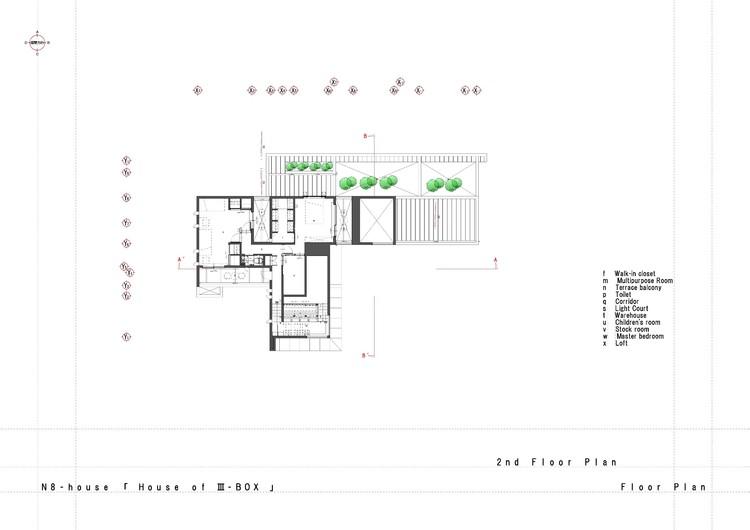 N8 house masahiko sato archdaily for 100 floor level 58