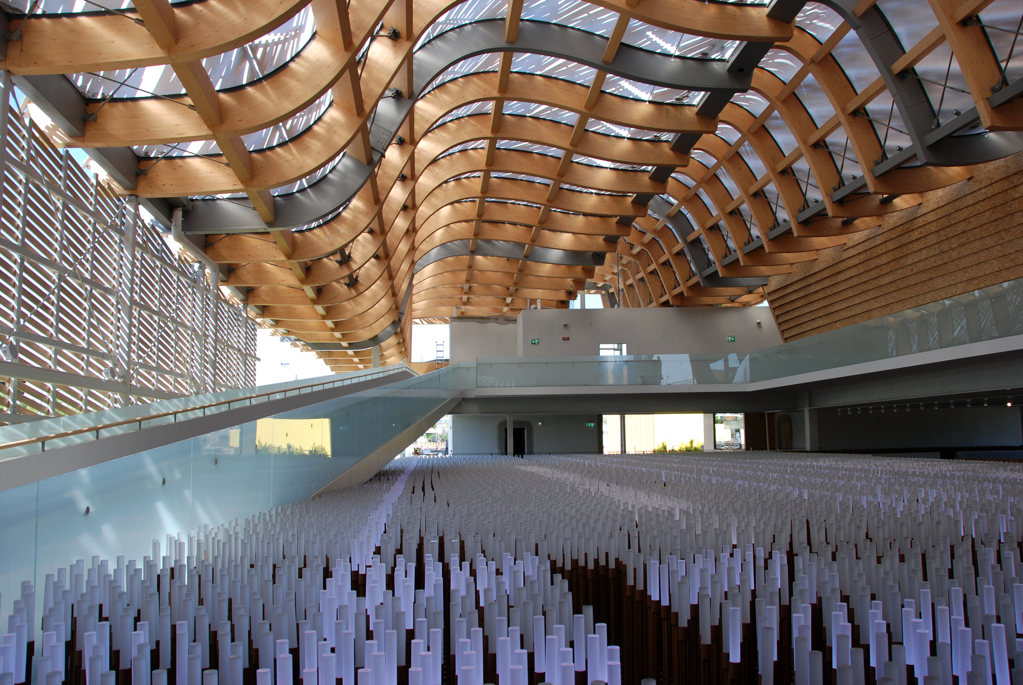 beauty of woodinnovation china pavilion milan expo 2015 milan italy - Innovative Wood Beam Ceiling