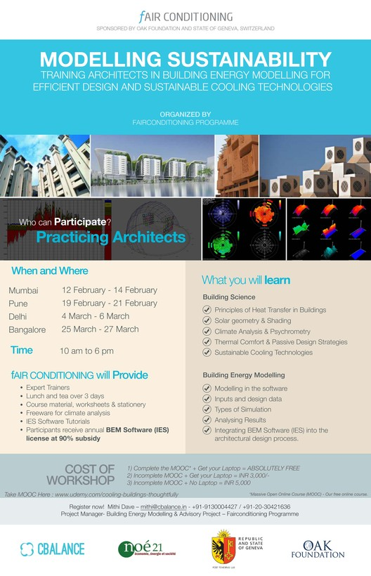 Event: Sustainability and Building Energy Modelling Workshop for Architects