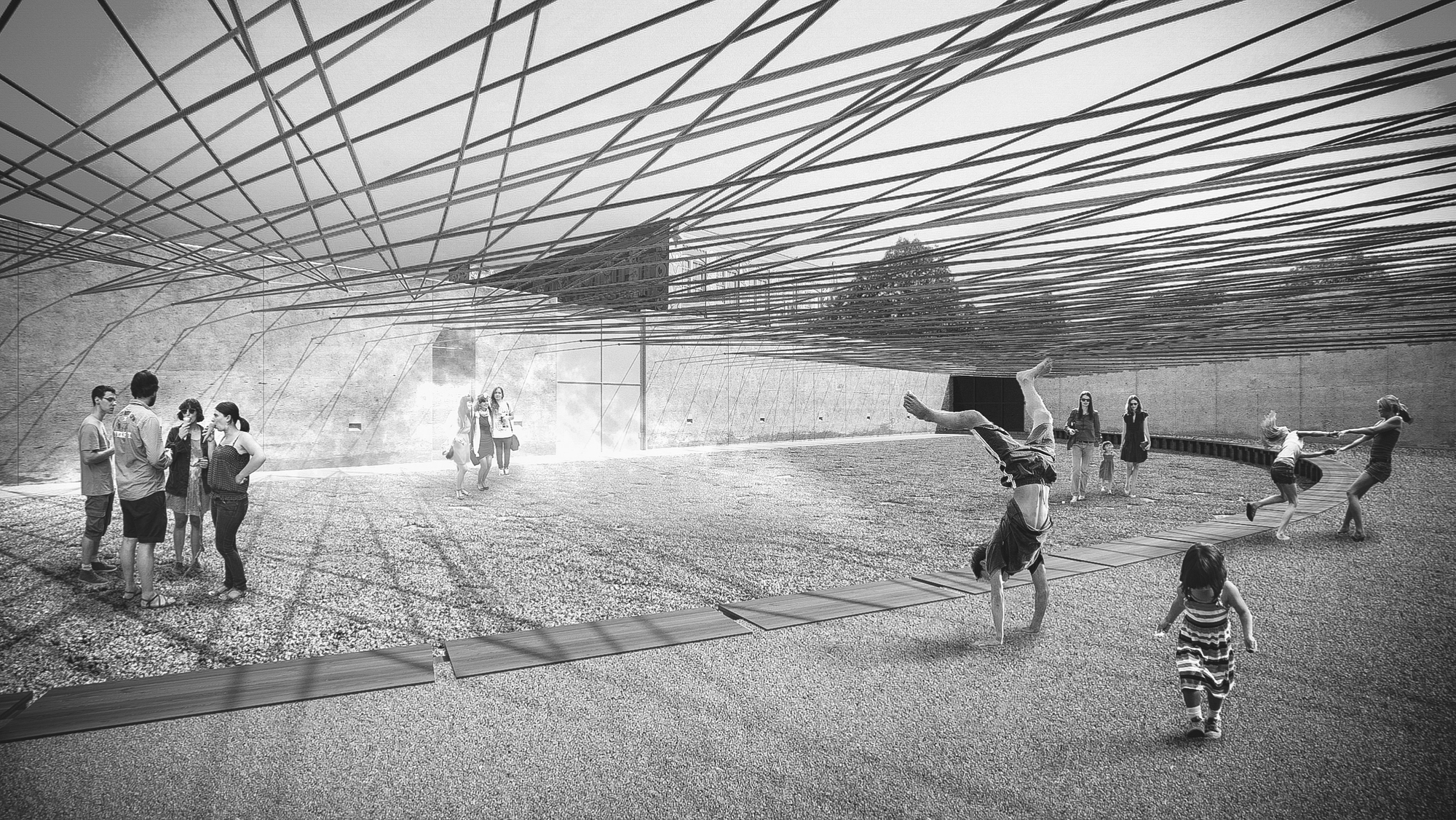 Escobedo Soliz Studio Wins MoMA PS1s 2016 Young Architects Program Weaving The Courtyard 2015