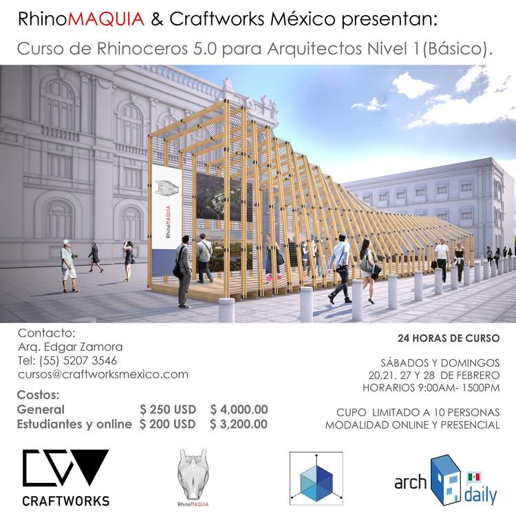 Curso Básico Rhinoceros 5,0 para Arquitectos / Ciudad de México