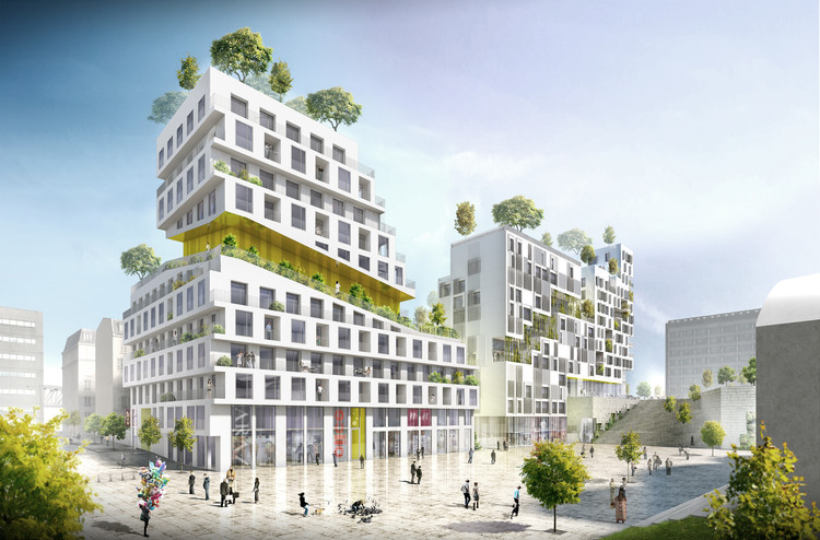 SeARCH vence concurso habitacional em Paris, © SeARCH