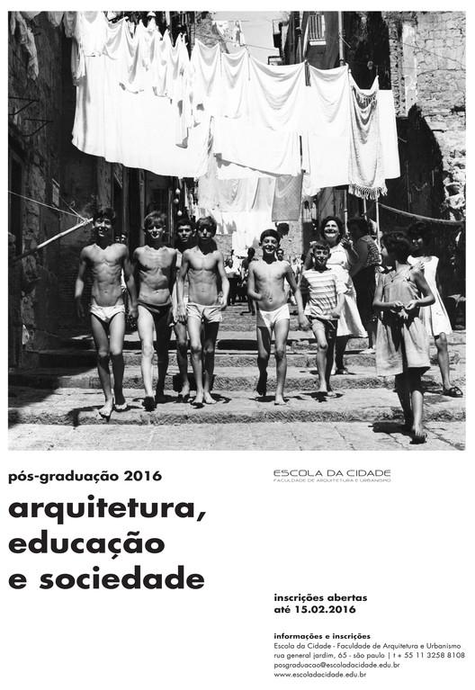 """Inscrições abertas para o curso de Pós-Graduação Arquitetura, Educação e Sociedade, Cortesia Escola da Cidade. Image ©  Mario Cattaneo. Dalla serie """"Vicoli"""""""