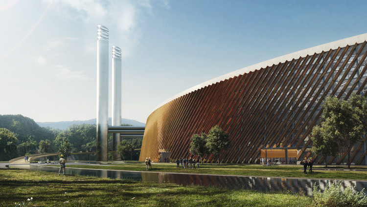 Schmidt Hammer Lassen and Gottlieb Paludan to Design World's Largest Waste-to-Energy Plant in Shenzhen, Courtesy of Schmidt Hammer Lassen Architects and Gottlieb Paludan Architects