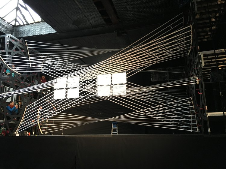 Gabriel Calatrava Creates Interactive String Installation for the 92Y Music Festival in New York , Courtesy of Gabriel Calatrava and 92Y