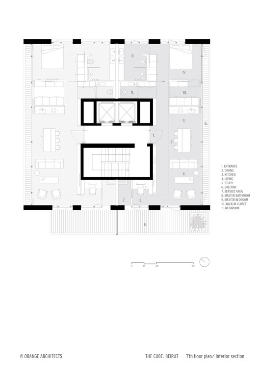 The cube orange architects archdaily for Cube home plans