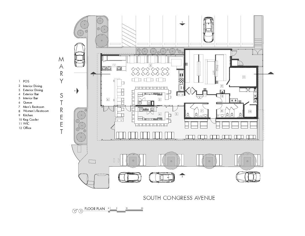 Fast Food With Drive Thru Floor Plan