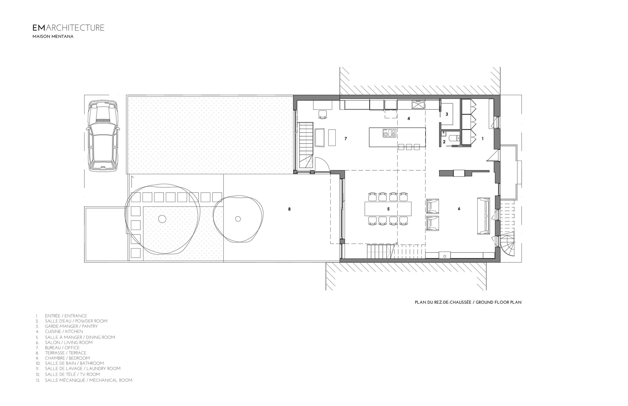 floor plan - Plan Architecture Maison 100m2